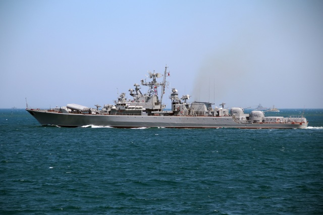russian ships blocking access to ukrainian ports