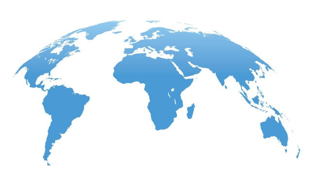 World Map Isolated on White Background. Vector Illustration